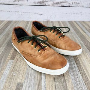 Keds Women's Brown Leather Low Top Sneakers Size 7